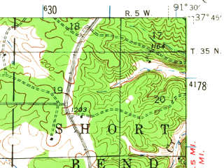 Reduced fragment of topographic map en--usgs--063k--062022--(1941)--N037-45_W091-45--N037-30_W091-30; towns and cities Salem