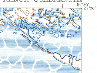 Reduced fragment of topographic map en--usgs--063k--062048--(1923)--N027-00_W097-45--N026-45_W097-30