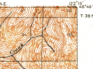 Reduced fragment of topographic map en--usgs--063k--062056--(1918)--N048-45_W122-30--N048-30_W122-15 in area of Samish Lake; towns and cities Bellingham, Sudden Valley