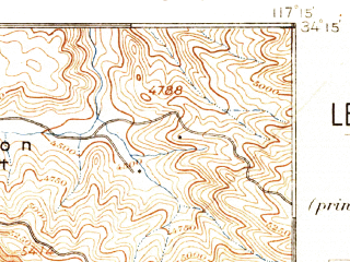 Reduced fragment of topographic map en--usgs--063k--062067--(1896)--N034-15_W117-30--N034-00_W117-15; towns and cities San Bernardino, Rialto, Fontana, Colton, Loma Linda