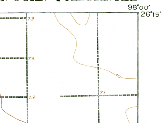 Reduced fragment of topographic map en--usgs--063k--062081--(1916)--N026-15_W098-15--N026-00_W098-00; towns and cities Mcallen, Pharr, Donna, San Juan, Alamo