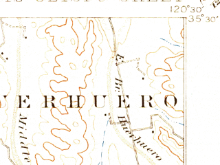 Reduced fragment of topographic map en--usgs--063k--062086--(1897)--N035-30_W120-45--N035-15_W120-30; towns and cities Atascadero, San Luis Obispo, Santa Margarita