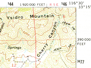 Reduced fragment of topographic map en--usgs--063k--062141--(1960)--N033-15_W116-45--N033-00_W116-30; towns and cities Julian