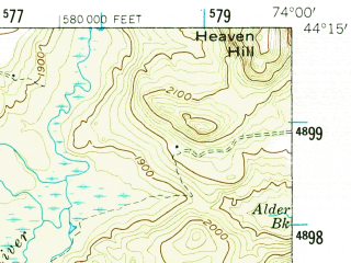 Reduced fragment of topographic map en--usgs--063k--062142--(1953)--N044-15_W074-15--N044-00_W074-00