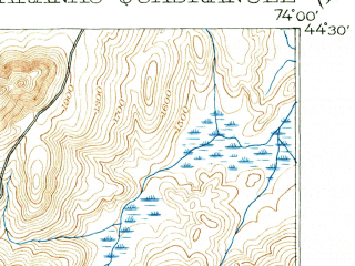 Reduced fragment of topographic map en--usgs--063k--062152--(1902)--N044-30_W074-15--N044-15_W074-00 in area of Lower Saranac Lake, Oseetah Lake, Rainbow Lake; towns and cities Saranac Lake