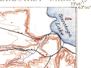 Reduced fragment of topographic map en--usgs--063k--062189--(1898)--N043-00_W074-00--N042-45_W073-45; towns and cities Schenectady, Rotterdam, East Glenville, Scotia, Country Knolls