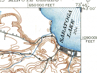 Reduced fragment of topographic map en--usgs--063k--062189--(1948)--N043-00_W074-00--N042-45_W073-45; towns and cities Schenectady, Rotterdam, Scotia, East Glenville, Niskayuna