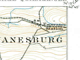 Reduced fragment of topographic map en--usgs--063k--062194--(1898)--N042-45_W074-30--N042-30_W074-15; towns and cities Cobleskill, Middleburgh, Schoharie
