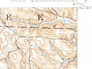 Reduced fragment of topographic map en--usgs--063k--062202--(1902)--N040-30_W081-15--N040-15_W081-00 in area of Tappen Lake; towns and cities Bowerston, Deersville, Jewett