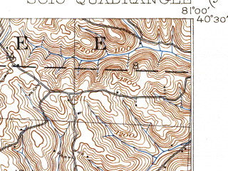 Reduced fragment of topographic map en--usgs--063k--062202--(1904)--N040-30_W081-15--N040-15_W081-00 in area of Tappen Lake; towns and cities Jewett, Leesville, Scio