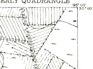 Reduced fragment of topographic map en--usgs--063k--062231--(1956)--N030-00_W096-15--N029-45_W096-00; towns and cities San Felipe, Sealy