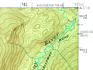 Reduced fragment of topographic map en--usgs--063k--062247--(1927)--N045-15_W071-15--N045-00_W071-00 in area of Second Lake