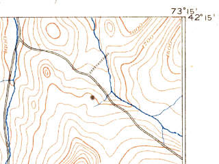 Reduced fragment of topographic map en--usgs--063k--062419--(1888)--N042-15_W073-30--N042-00_W073-15; towns and cities Canaan, Great Barrington