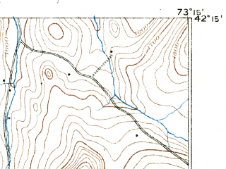 Reduced fragment of topographic map en--usgs--063k--062419--(1891)--N042-15_W073-30--N042-00_W073-15; towns and cities Canaan, Great Barrington