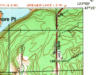 Reduced fragment of topographic map en--usgs--063k--062435--(1939)--N047-15_W123-15--N047-00_W123-00; towns and cities Shelton