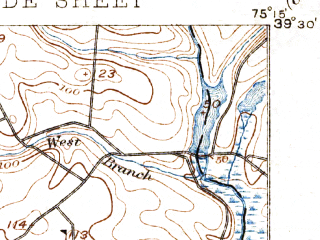 Reduced fragment of topographic map en--usgs--063k--062456--(1894)--N039-30_W075-30--N039-15_W075-15 in area of Cohansey; towns and cities Shiloh