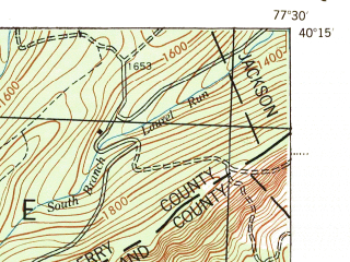 Reduced fragment of topographic map en--usgs--063k--062467--(1945)--N040-15_W077-45--N040-00_W077-30; towns and cities Shippensburg, Newburg, Orrstown