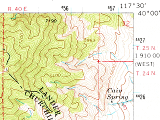 Reduced fragment of topographic map en--usgs--063k--062499--(1966)--N040-00_W117-45--N039-45_W117-30