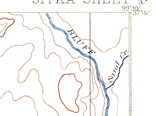 Reduced fragment of topographic map en--usgs--063k--062598--(1894)--N037-15_W099-45--N037-00_W099-30