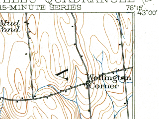 Reduced fragment of topographic map en--usgs--063k--062641--(1902)--N043-00_W076-30--N042-45_W076-15 in area of Skaneateles Lake, Otisco Lake; towns and cities Marcellus, Skaneateles
