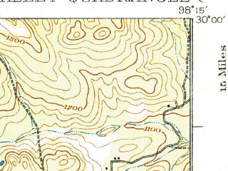 Reduced fragment of topographic map en--usgs--063k--062706--(1927)--N030-00_W098-30--N029-45_W098-15; towns and cities Canyon Lake