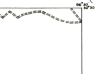 Reduced fragment of topographic map en--usgs--063k--062768--(1956)--N030-30_W096-45--N030-15_W096-30 in area of Somerville Lake; towns and cities Somerville