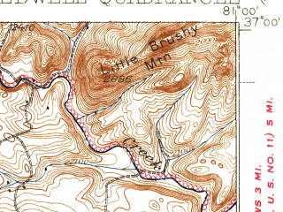 Reduced fragment of topographic map en--usgs--063k--062827--(1939)--N037-00_W081-15--N036-45_W081-00; towns and cities Wytheville
