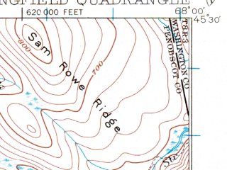 Reduced fragment of topographic map en--usgs--063k--062878--(1931)--N045-30_W068-15--N045-15_W068-00 in area of Upper Sysladobsis Lake