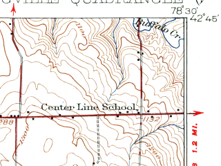 Reduced fragment of topographic map en--usgs--063k--062882--(1925)--N042-45_W078-45--N042-30_W078-30; towns and cities Holland, Springville