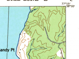 Reduced fragment of topographic map en--usgs--063k--062900--(1931)--N038-30_W077-30--N038-15_W077-15; towns and cities Fredericksburg, Aquia Harbour, Falmouth