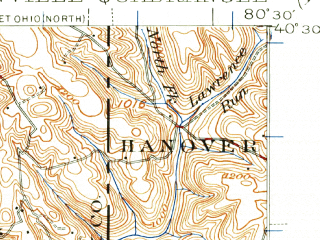 Reduced fragment of topographic map en--usgs--063k--062977--(1935)--N040-30_W080-45--N040-15_W080-30; towns and cities Steubenville, Weirton, Toronto, Wellsburg, Brentwood
