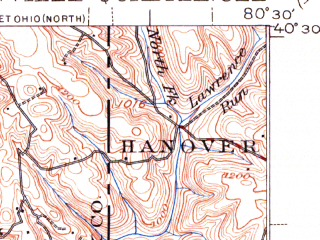 Reduced fragment of topographic map en--usgs--063k--062977--(1942)--N040-30_W080-45--N040-15_W080-30; towns and cities Steubenville, Weirton, Toronto, Brentwood, Wintersville