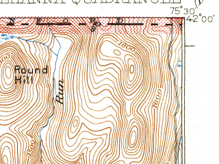 Reduced fragment of topographic map en--usgs--063k--063153--(1935)--N042-00_W075-45--N041-45_W075-30; towns and cities Great Bend, Hallstead, Lanesboro