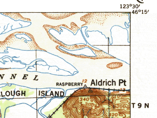 Reduced fragment of topographic map en--usgs--063k--063177--(1940)--N046-15_W123-45--N046-00_W123-30