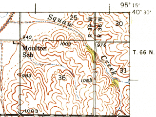 Reduced fragment of topographic map en--usgs--063k--063352--(1939)--N040-30_W095-30--N040-15_W095-15; towns and cities Fairfax, Tarkio