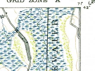 Reduced fragment of topographic map en--usgs--063k--063360--(1918)--N042-00_W071-15--N041-45_W071-00; towns and cities Taunton, Norton Center, Raynham Center