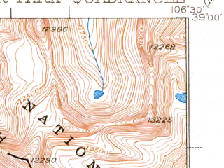 Reduced fragment of topographic map en--usgs--063k--063395--(1937)--N039-00_W106-45--N038-45_W106-30 in area of Taylor Park Reservoir