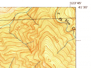 Reduced fragment of topographic map en--usgs--063k--063402--(1945)--N041-30_W124-00--N041-15_W123-45