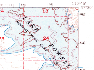 Reduced fragment of topographic map en--usgs--063k--063504--(1953)--N037-30_W111-00--N037-15_W110-45