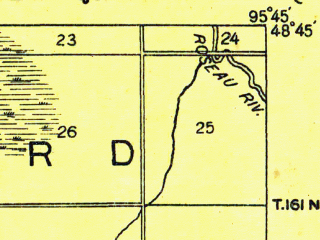 Reduced fragment of topographic map en--usgs--063k--063517--(1918)--N048-45_W096-00--N048-30_W095-45