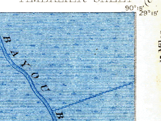 Reduced fragment of topographic map en--usgs--063k--063569--(1894)--N029-15_W090-30--N029-00_W090-15