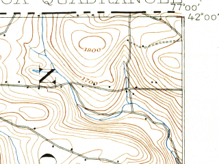 Reduced fragment of topographic map en--usgs--063k--063584--(1900)--N042-00_W077-15--N041-45_W077-00; towns and cities Lawrenceville, Mansfield, Tioga