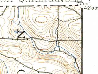 Reduced fragment of topographic map en--usgs--063k--063584--(1902)--N042-00_W077-15--N041-45_W077-00; towns and cities Lawrenceville, Mansfield, Tioga