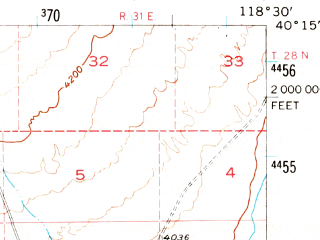 Reduced fragment of topographic map en--usgs--063k--063645--(1956)--N040-15_W118-45--N040-00_W118-30