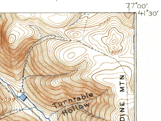 Reduced fragment of topographic map en--usgs--063k--063711--(1923)--N041-30_W077-15--N041-15_W077-00; towns and cities Garden View, Salladasburg