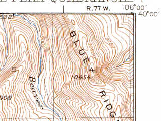 Reduced fragment of topographic map en--usgs--063k--063950--(1937)--N040-00_W106-15--N039-45_W106-00