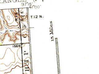 Reduced fragment of topographic map en--usgs--063k--063951--(1937)--N041-00_W097-30--N040-45_W097-15; towns and cities Beaver Crossing, Thayer, Utica