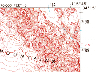 Reduced fragment of topographic map en--usgs--063k--064020--(1956)--N034-15_W116-00--N034-00_W115-45