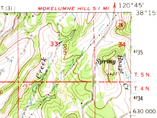 Reduced fragment of topographic map en--usgs--063k--064023--(1962)--N038-15_W121-00--N038-00_W120-45