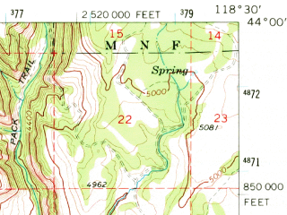 Reduced fragment of topographic map en--usgs--063k--064031--(1968)--N044-00_W118-45--N043-45_W118-30